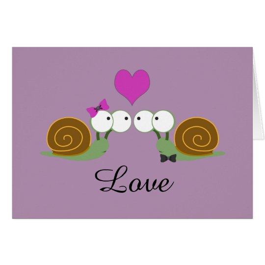 Snail Love Card