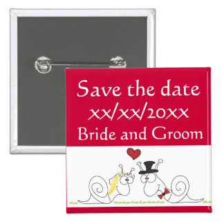 Snail love save the date button