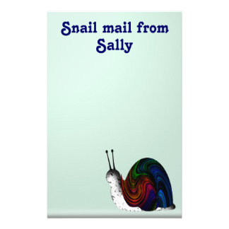 Snail mail personalized stationery