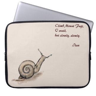 Snail original pastel zen drawing laptop sleeve