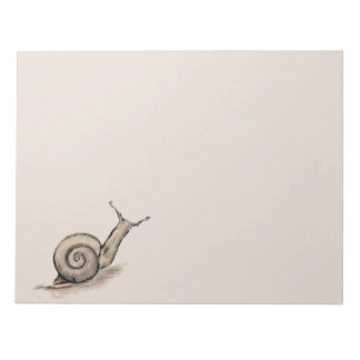 Snail original pastel zen drawing notepad