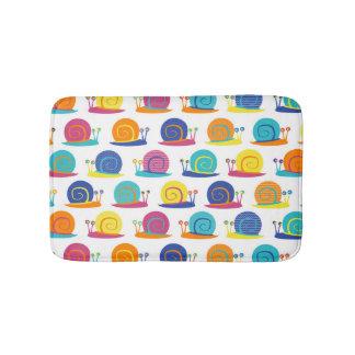 Snail Party Pattern Bath Mat