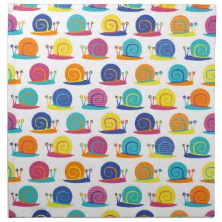 Snail Party Pattern Napkin