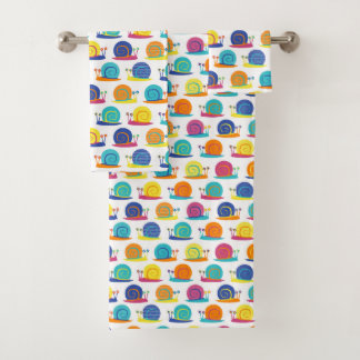 Snail Party Pattern Towels