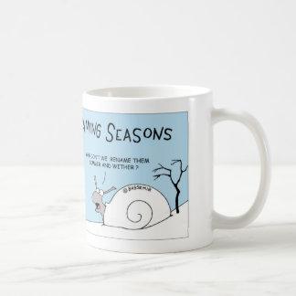 Snail renames seasons coffee mug