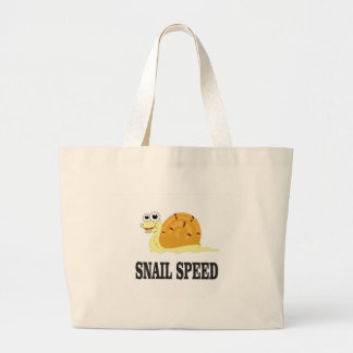 snail speed fast large tote bag