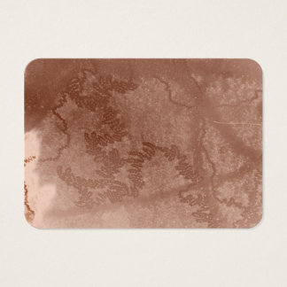 Snail trail on brown bark texture business card