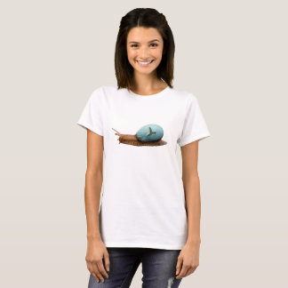Snail Turtle Double Exposure T-Shirt