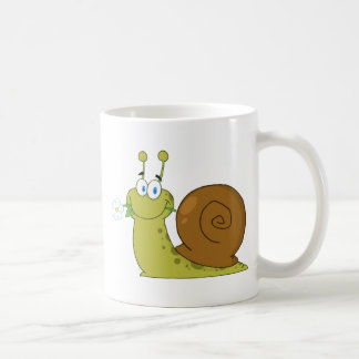 Snail With A Flower In Its Mouth Coffee Mug