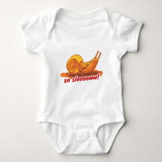 snail with text cartoon style illustration baby bodysuit