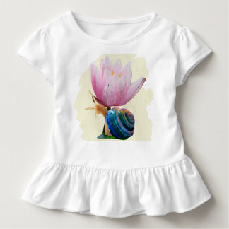 Snail with Water Lily Flower Toddler T-Shirt