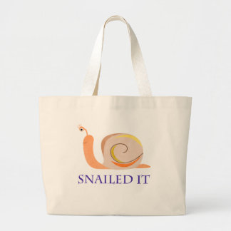 Snailed It Large Tote Bag
