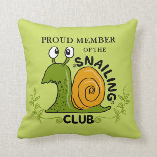 Snailing Club Proud Member Cushion