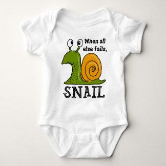 Snailing...When all else fails Baby Bodysuit
