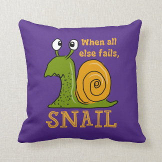 Snailing, when all else fails (EditableBackground) Cushion