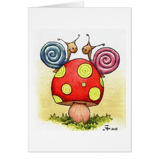 SNAILS GREETING CARD