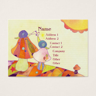 Snails on Mushrooms Childcare Business Cards