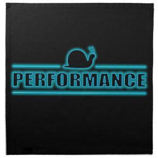 Snails pace performance. napkin