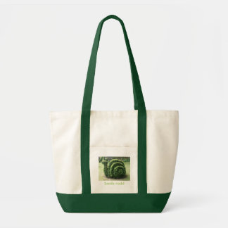 Snails rock! Topiary garden shopping beach Tote Bag