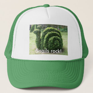 Snails rock! Topiary garden snail fun Trucker Hat