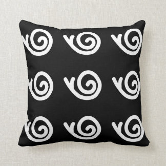Snailz Collection Contrast Throw Pillow