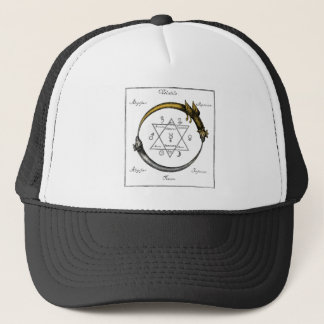 Snake and Dragon Ouroboros Trucker Hat