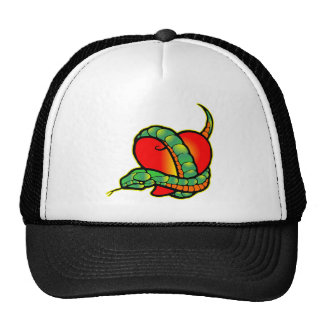 Snake and Heart 0033 Mesh Hats