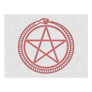 Snake and Pentagram Postcard