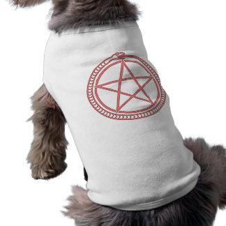 Snake and Pentagram Sleeveless Dog Shirt