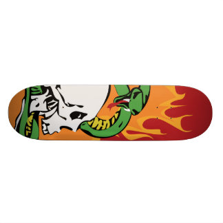 Snake and Skull Graphic 21.6 Cm Old School Skateboard Deck