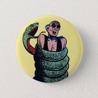 Snake Attack! 6 Cm Round Badge