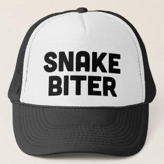 SNAKE BITER fun slogan trucker hat