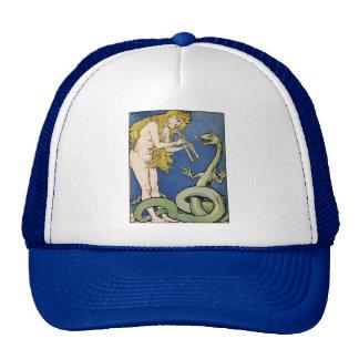 Snake Charmer - Art Nouveau Vintage Art Cap