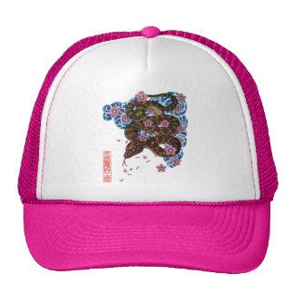 Snake cherry tree snowstorm mesh hat