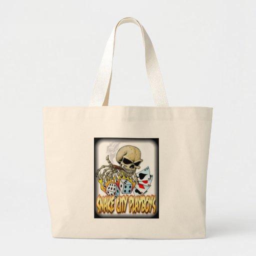 Snake City Playboys Skull Cards logo Tote Bag