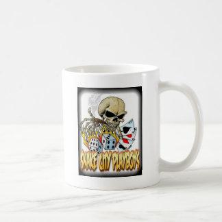 Snake City Playboys Skull Cards logo Coffee Mug