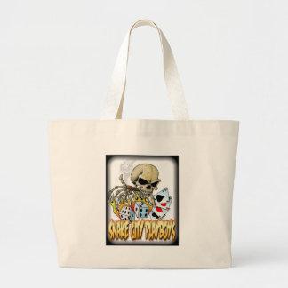 Snake City Playboys Skull Cards logo Jumbo Tote Bag