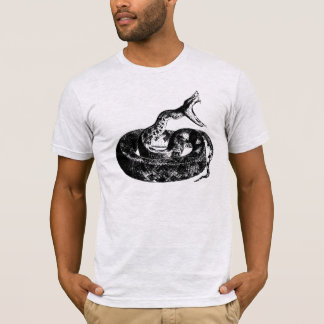 Snake, Cobra Mens Black and Gray Shirt