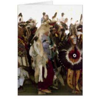 Snake Dance at Pow Wow Card