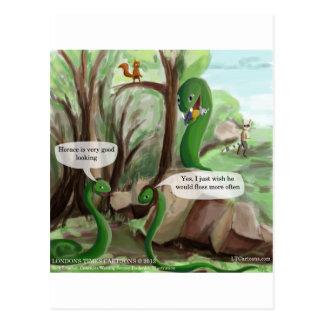 Snake Dental Issues Funny Postcard