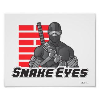 Snake Eyes Photo Print