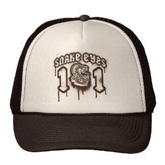 Snake Eyes Retro Grunge Graphic Cap
