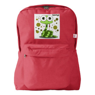 Snake(Green) Backpack, Red Backpack
