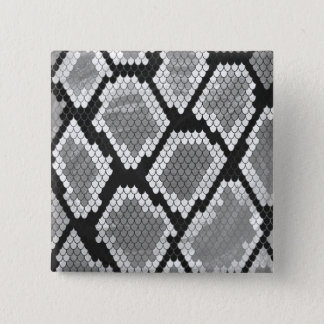 Snake Grey, White and Black Print 15 Cm Square Badge