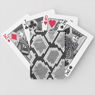 Snake Grey, White and Black Print Bicycle Playing Cards