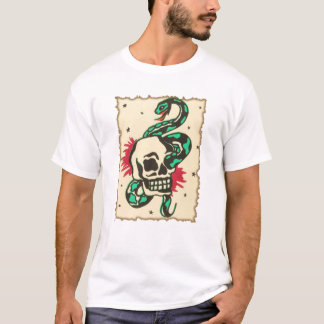 snake in the eye of the skull T-Shirt