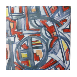 Snake In The Henhouse-Modern Geometric Art Tile