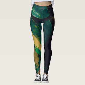 """Snake"" Leafs Leggings"
