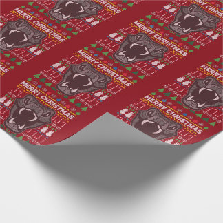 Snake Merry Christmas Ugly Sweater Style Wrapping Paper