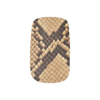 Snake nails minx nail art